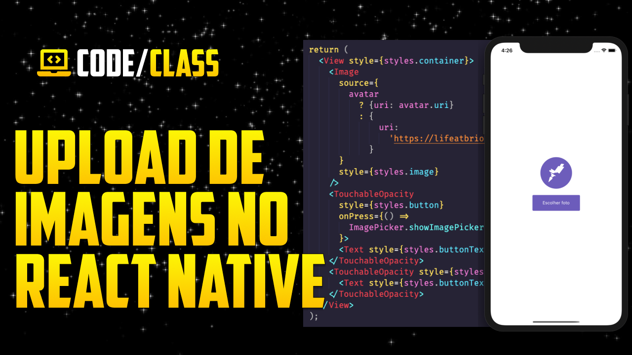 UPLOAD DE IMAGENS E VÍDEOS NO REACT NATIVE